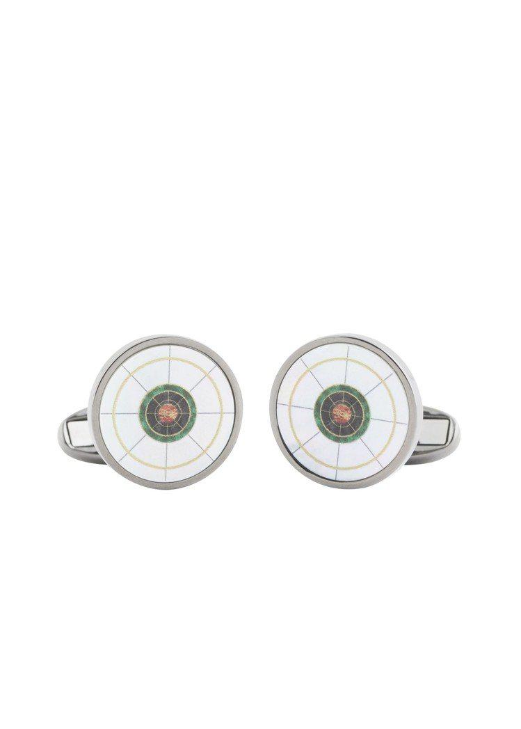《MIB星際戰警™:跨國行動》限量膠囊系列MIB環形Logo袖釦,5,800元。...