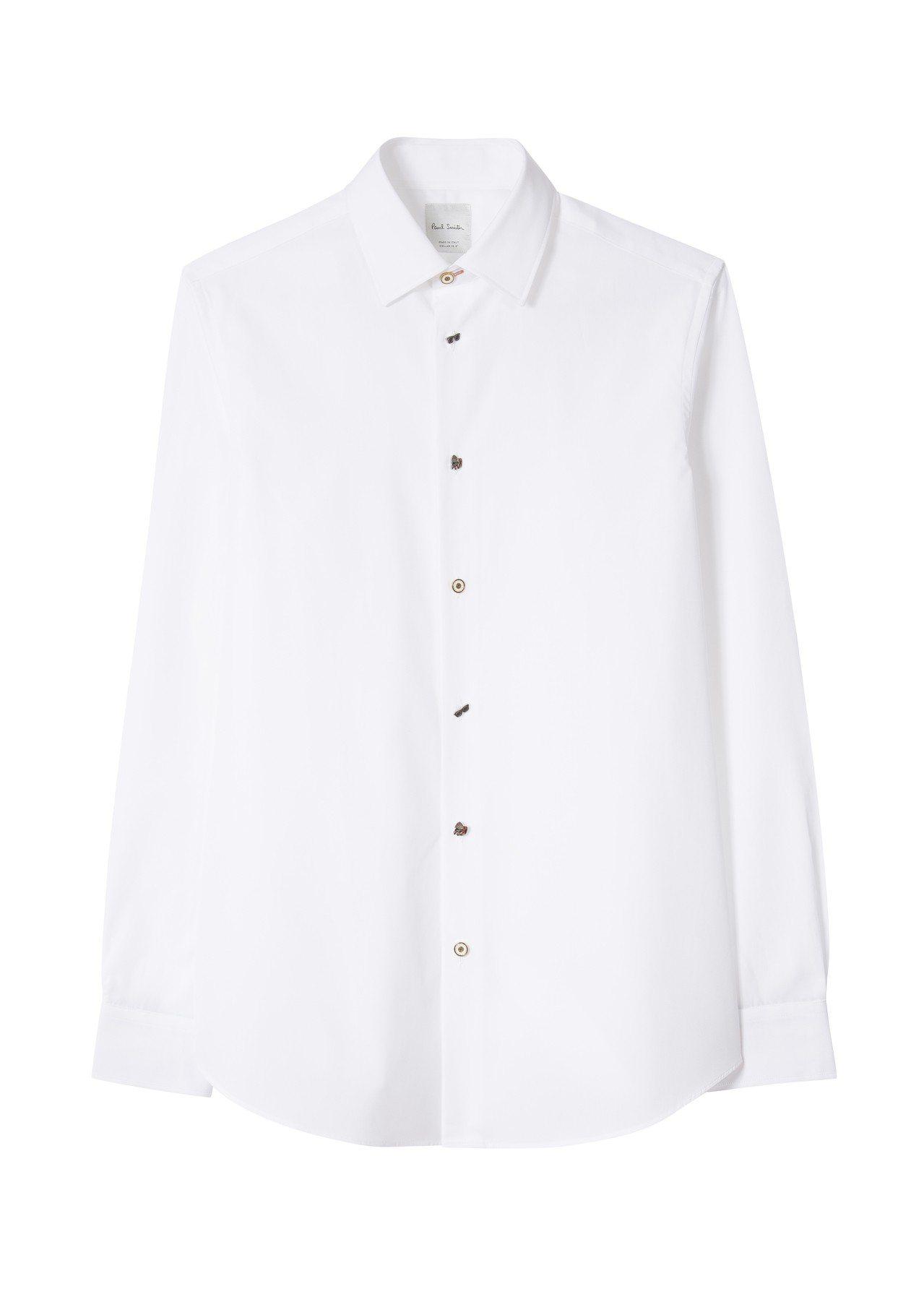 《MIB星際戰警™:跨國行動》限量膠囊系列MIB造型鈕釦白色襯衫,16,300元...