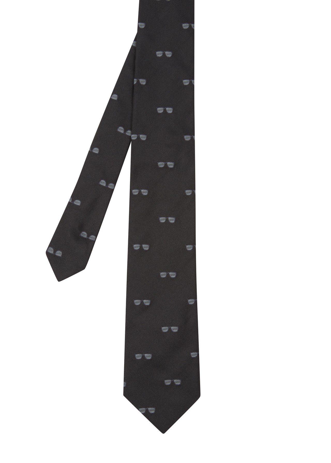 《MIB星際戰警™:跨國行動》限量膠囊系列墨鏡圖騰黑色領帶,7,300元。圖/P...