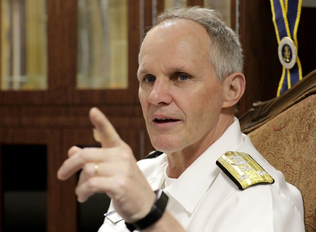 美國第七艦隊指揮官索耶中將。美聯社