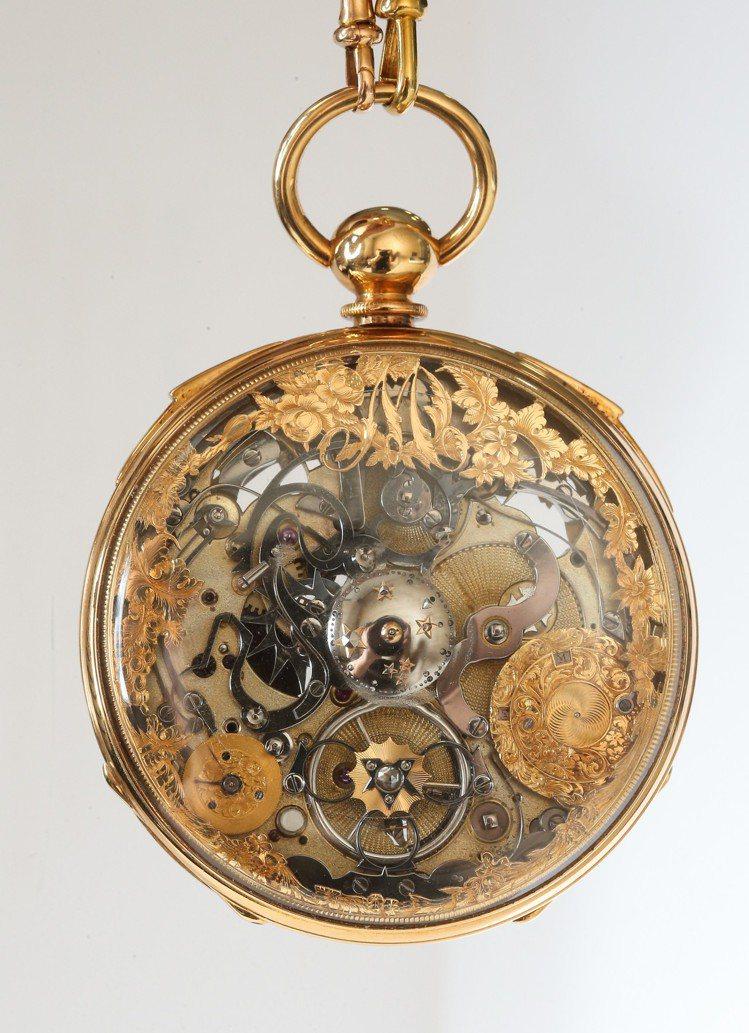 1850年代骨董懷表背面。有別於一般鐘表的設計和繁複雕花令人費解;解讀其雕花圖案...