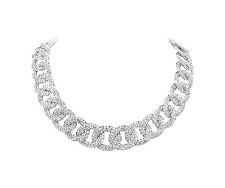 梵克雅寶Olympia項鍊,白K金鑲嵌鑽石,價格店洽。圖/梵克雅寶提供