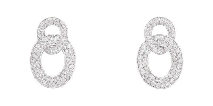 梵克雅寶Olympia耳環,白K金鑲嵌鑽石,價格店洽。圖/梵克雅寶提供