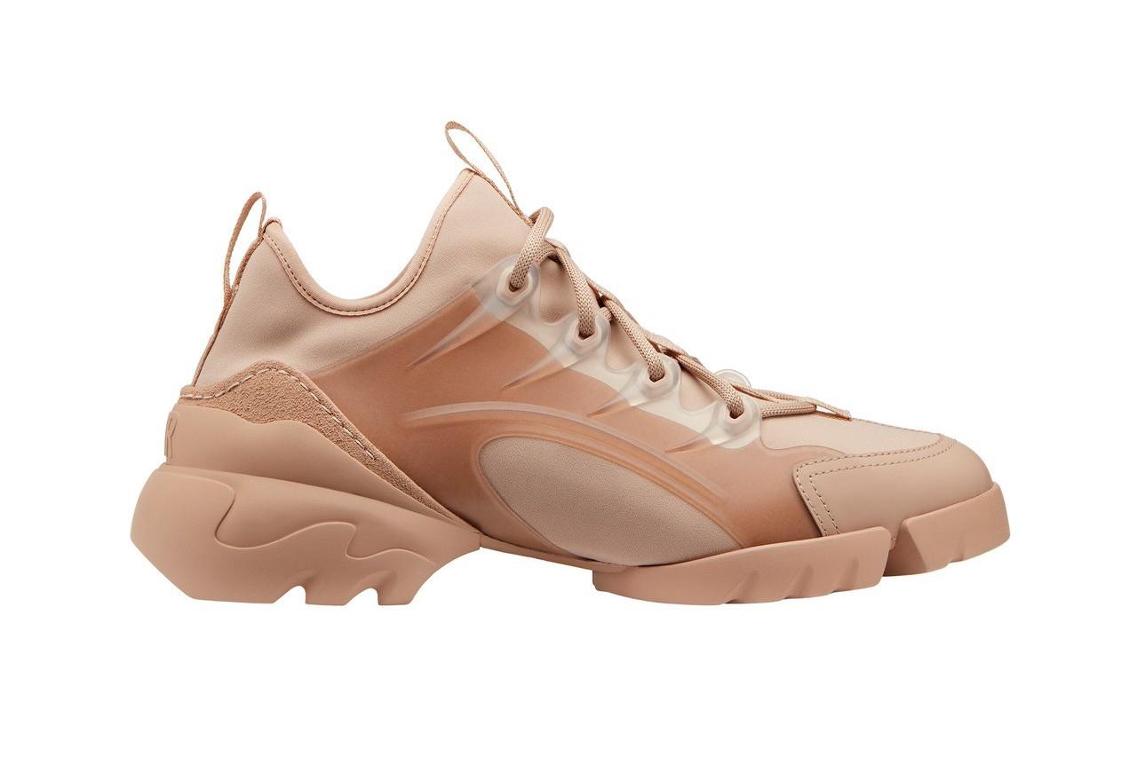 DIOR D-Connect粉膚色橡膠女款球鞋,售價34,000元。圖/DIOR...