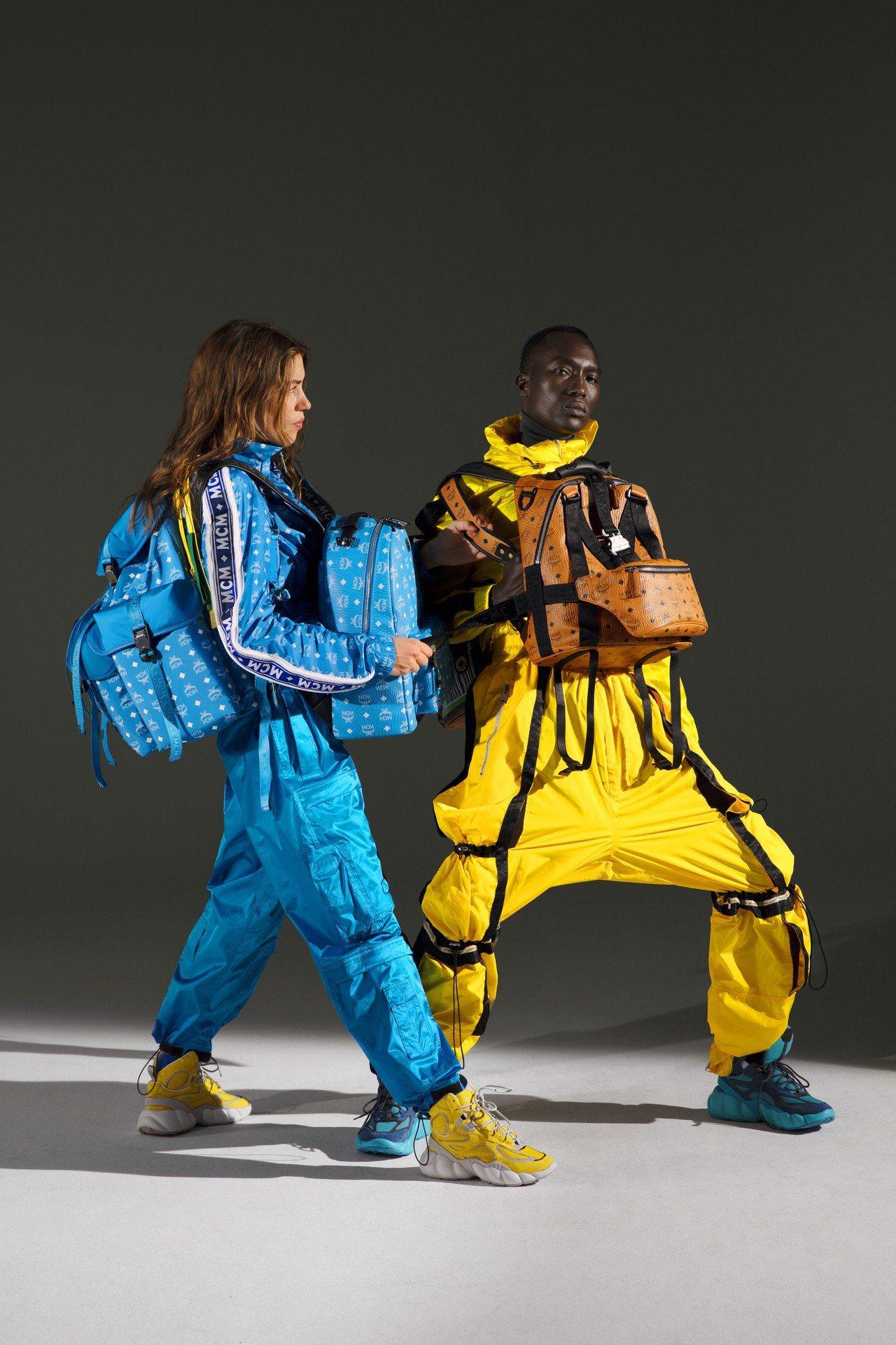 MCM Himmel男、女運動鞋,延伸自春夏季的空氣輕盈主題。圖/MCM提供