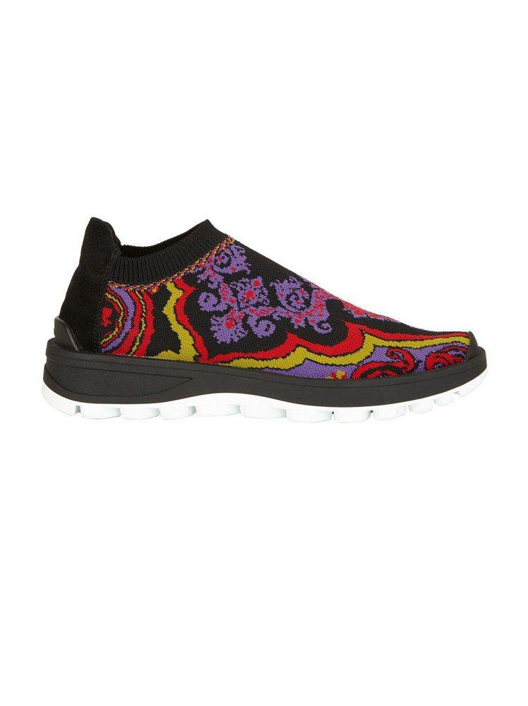 ETRO女款Paisley Run Sneakers休閒鞋。圖/ETRO提供