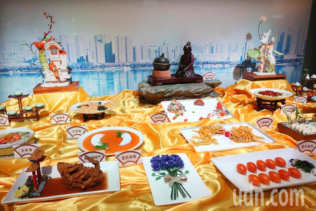 徐州彭祖美食文化節在台北登場,推出「彭祖養生宴」。記者曾學仁/攝影
