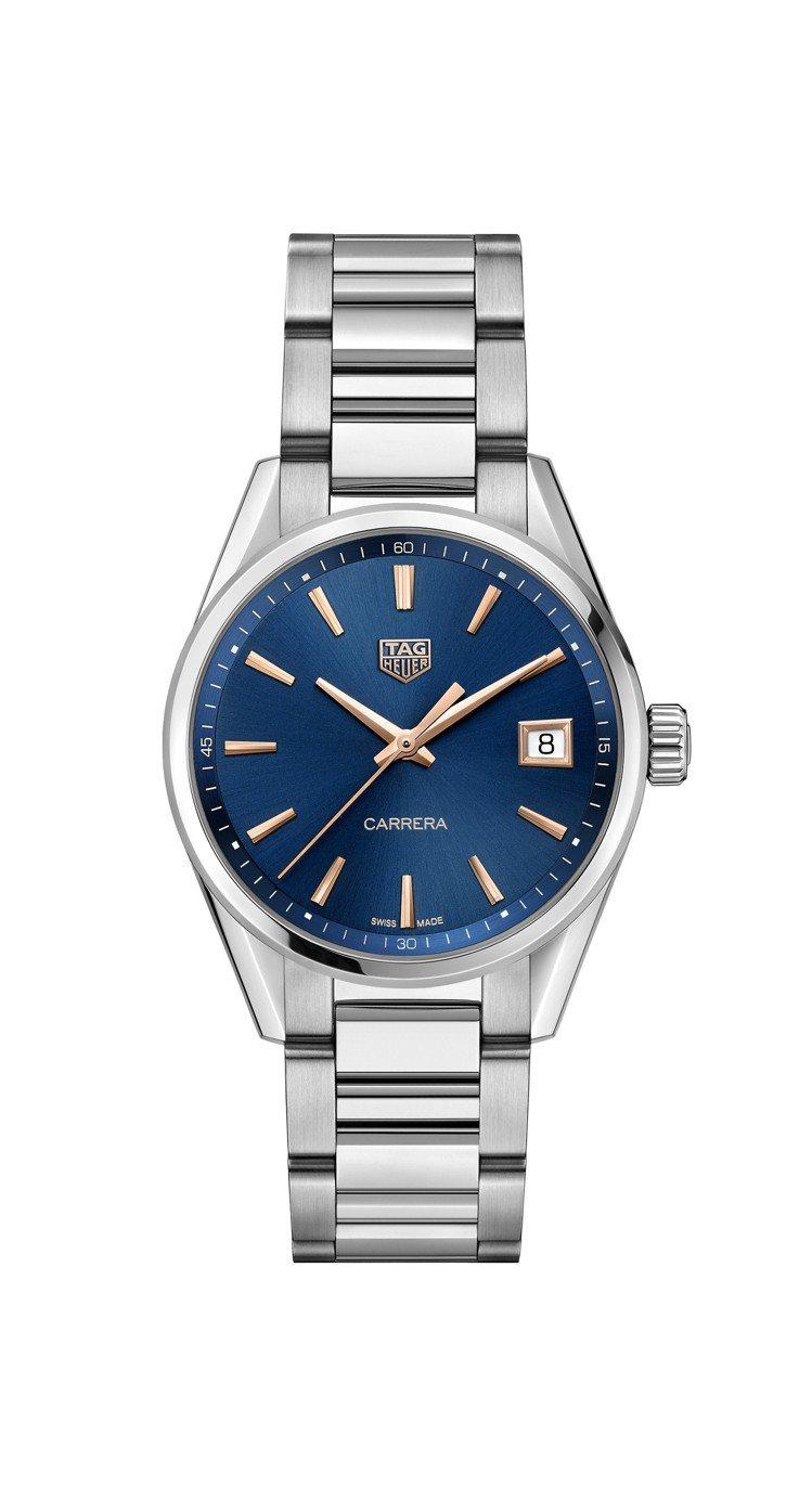 泰格豪雅Carrera Lady腕表,不鏽鋼表殼,搭載石英機芯,約65,600元...