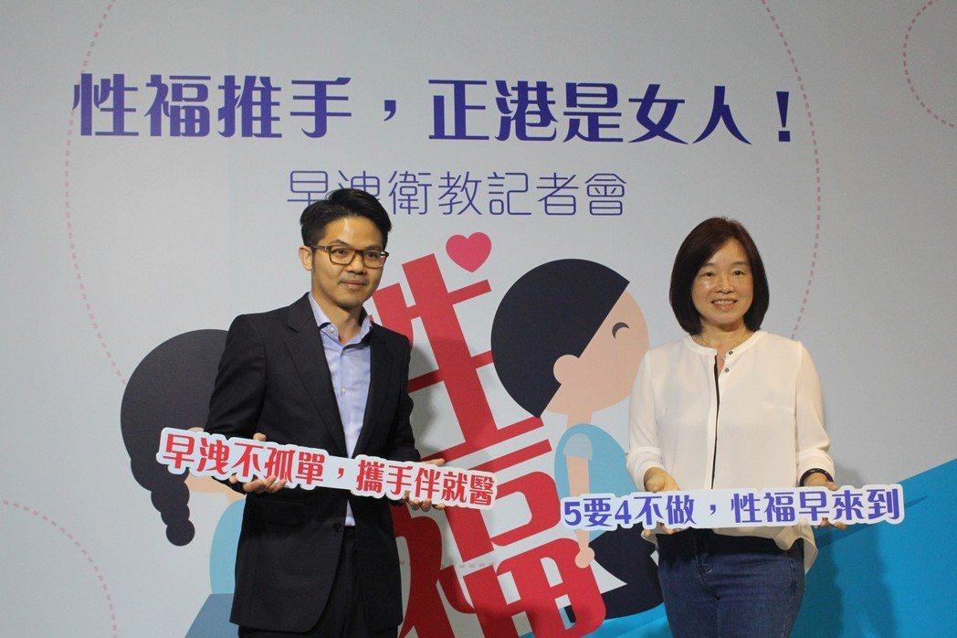 亞洲大學附屬醫院男性功能中心主任邱鴻傑(左)表示,礙於面子問題,9成以上早洩男性...