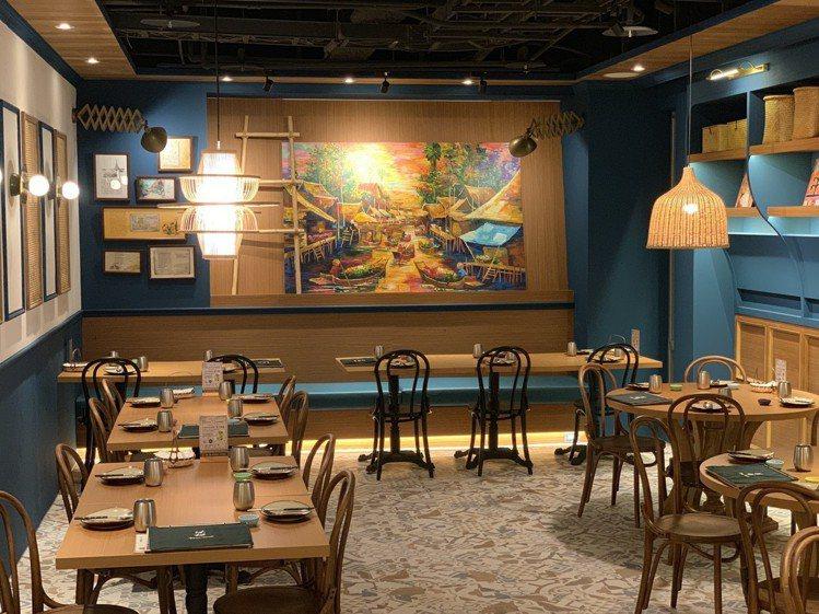 沐越中山北路店以「水上屋」為店內設計概念。圖/王品提供