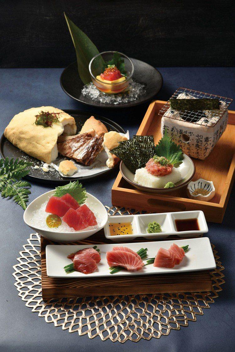 奇中山北店推出以海鮮為主的「夏旬收穫祭」料理,主打「炙燒鮪魚盛合」。圖/王品提供