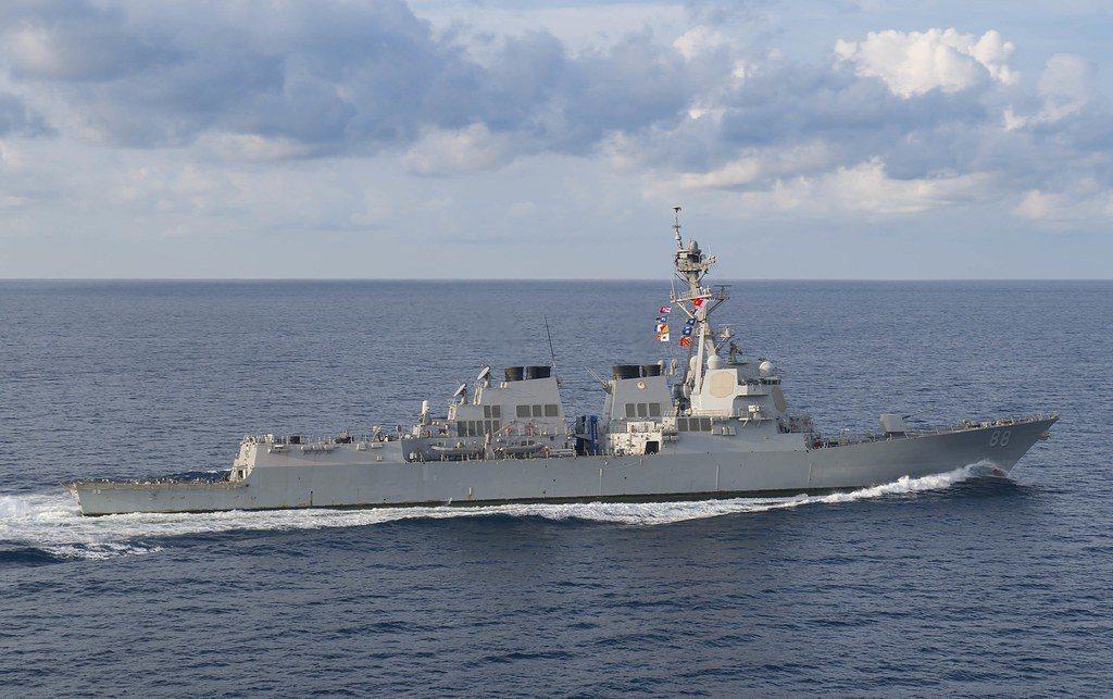 普瑞布爾號驅逐艦。圖/美國海軍檔案照