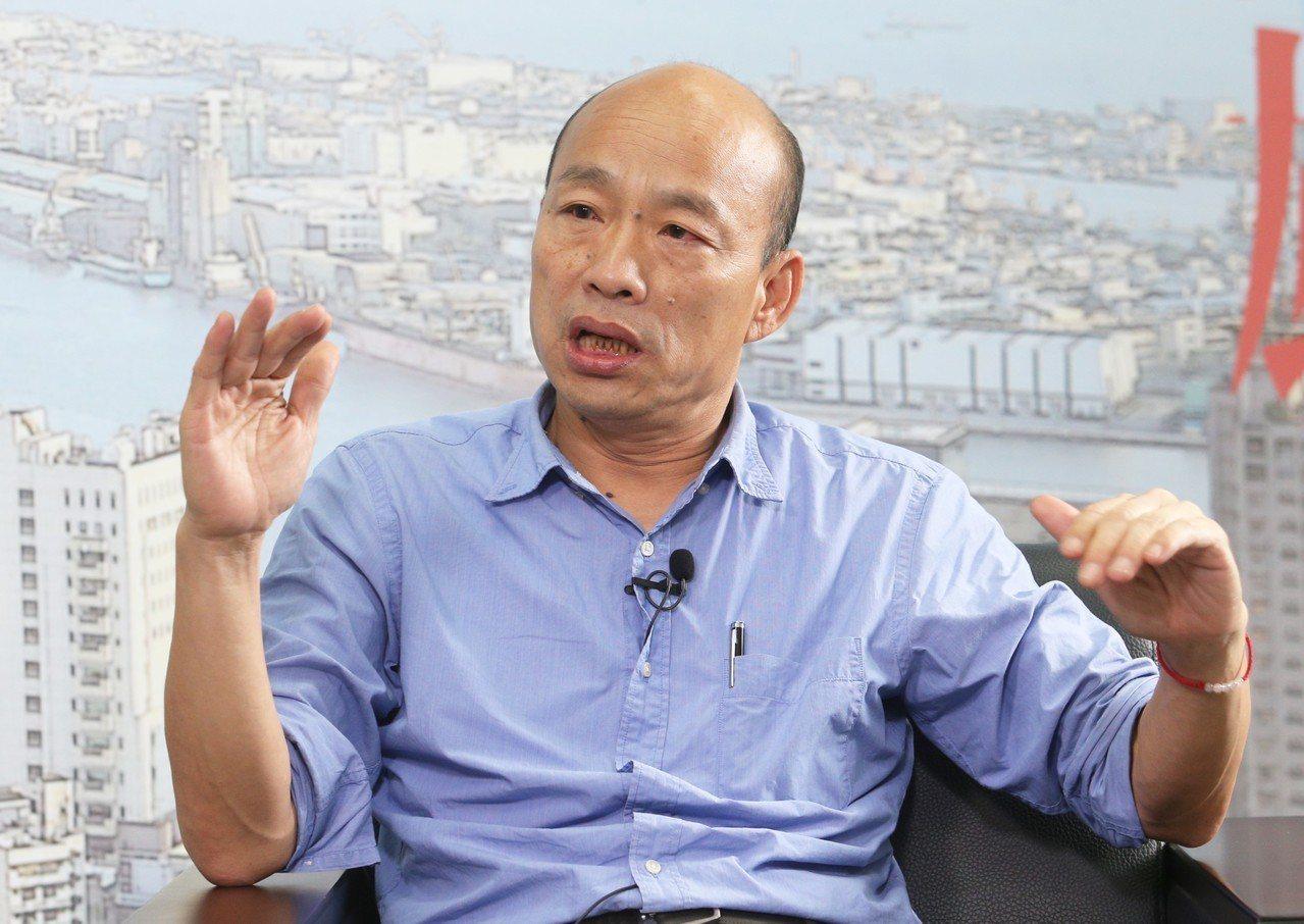 高雄市長韓國瑜説兩岸關係要互動交流,像打乒乓球,但現在的執政者打的是高爾夫球,和...
