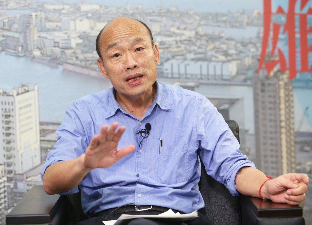 高雄市長韓國瑜接受聯合報專訪時表示,立院前院長王金平確協調藍綠的優點,但如果能找...