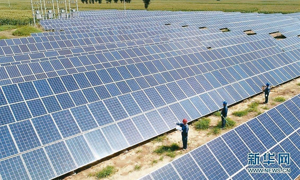 預計今年全球太陽能市場將增長約10%。 新華社資料照片