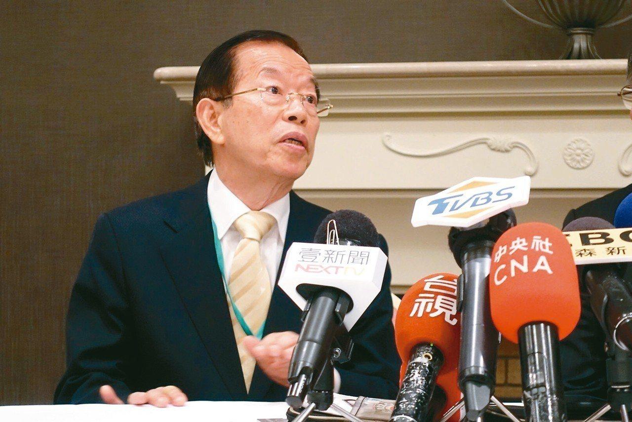 駐日代表謝長廷表示過幾天會很詳細回答。 記者邱瓊玉/攝影
