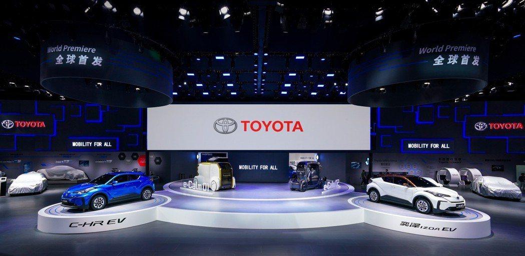 Toyota在全球各地的銷量較為均衡。 摘自豐田中國