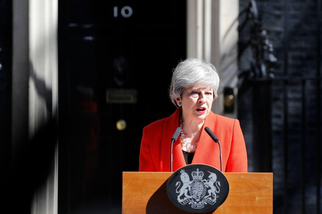 英國首相梅伊。 法新社