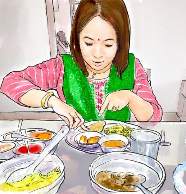 阮光民/印度的餐桌