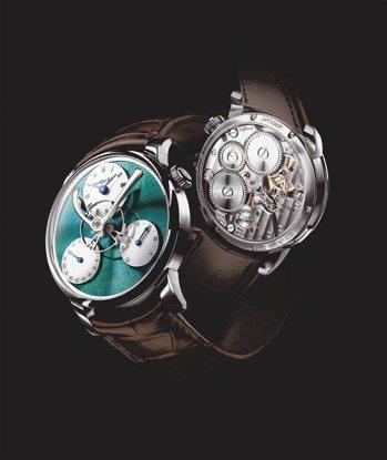 MB&F LM Split Escapement鈦金屬腕表,約230萬元。 圖/...
