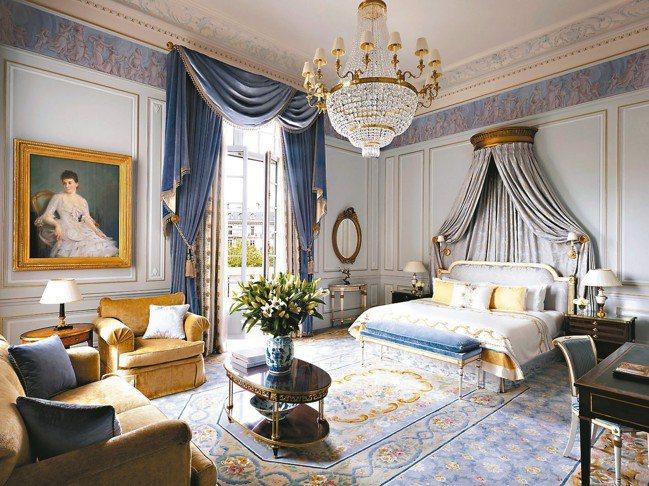 香格里拉 Imperiale套房充滿典雅風情。 圖/謝忠道