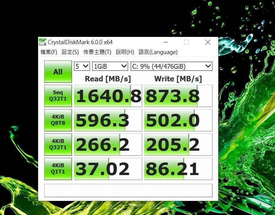 SSD整體跑分也不差。 彭子豪/攝影