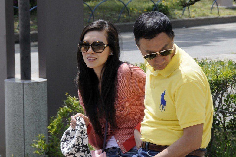圖為郭台銘和曾馨瑩於2008年的合影。本報資料照片/讀者提供