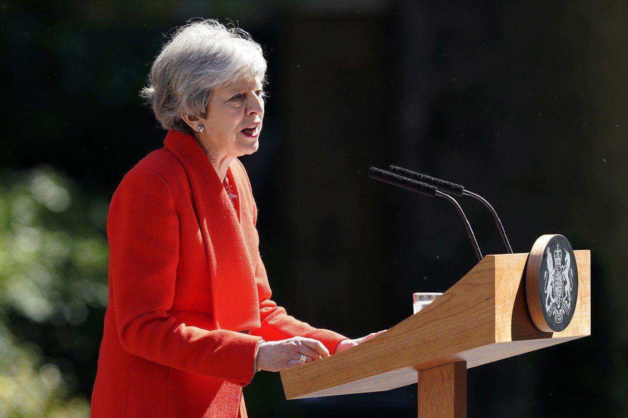 英國首相梅伊。 歐新社