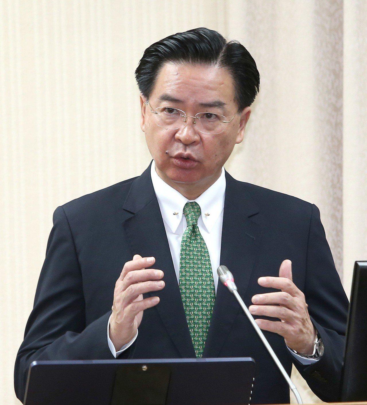 外交部長吳釗燮。聯合報系記者林澔一/攝影