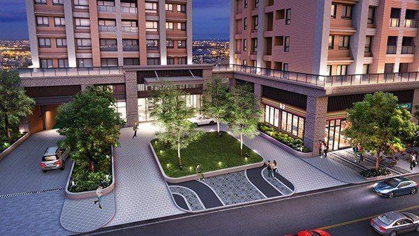 圖說:大廳前規劃迎賓迴車道,打造絕佳的公共空間質感。(圖為3D空間示意圖)
