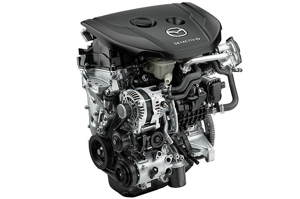 Skyactiv-D 1.8渦輪柴油引擎可提供116ps、27.5kgm動力表現...