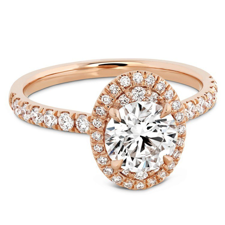 JULIETTE OVAL戒指,玫瑰金鑲嵌主鑽1克拉起,79萬元起。圖/HEAR...