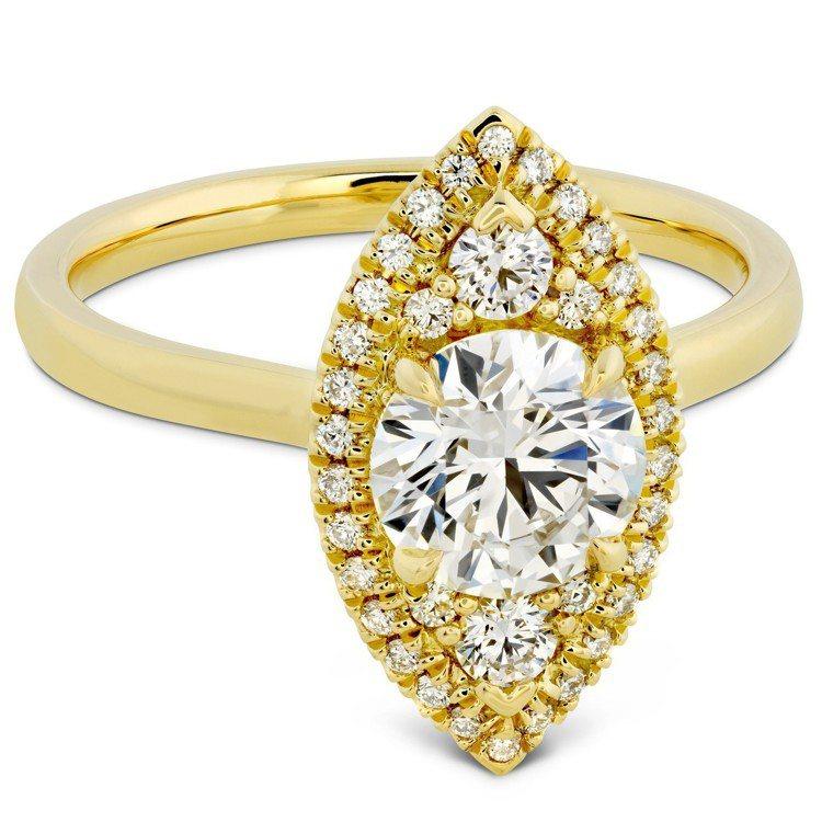 JULIETTE MARQUISE戒指,黃K金鑲嵌主鑽1克拉起,85萬1,000...
