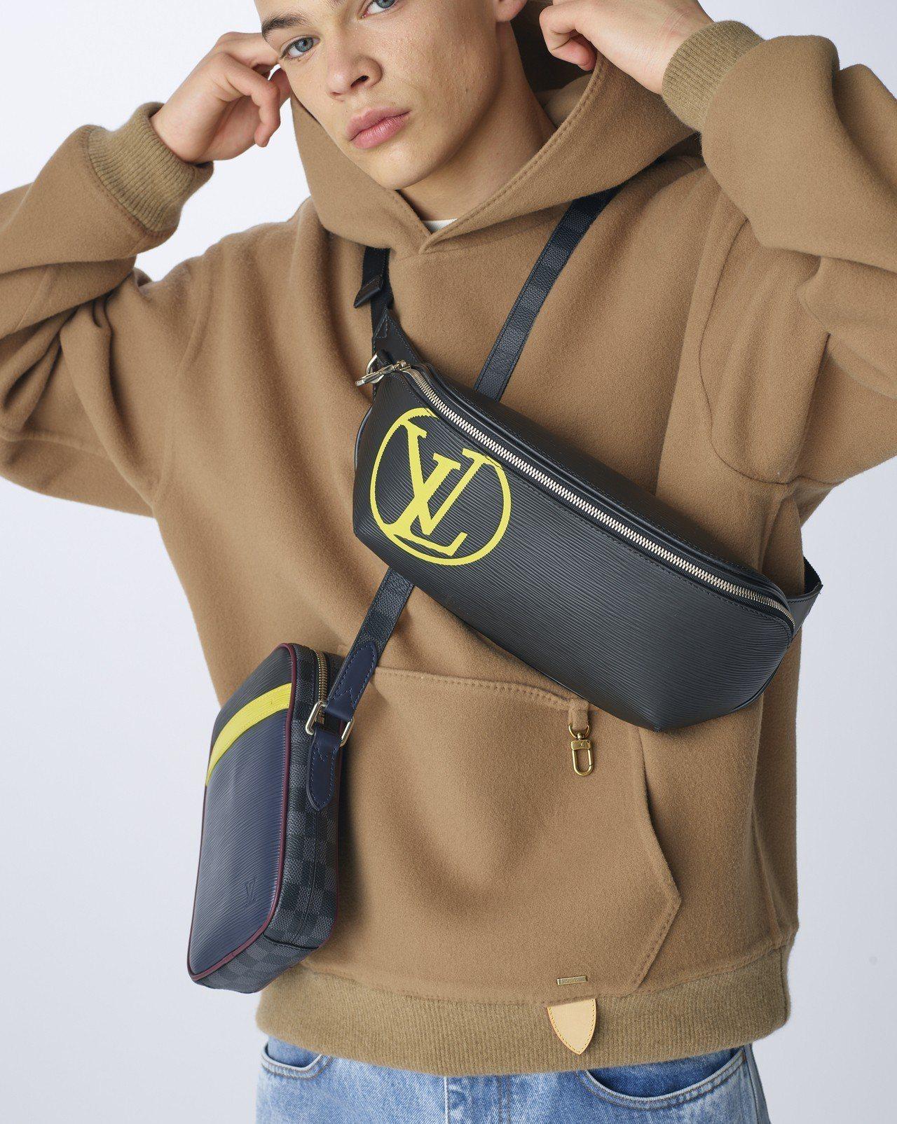 (右)Epi Patchwork腰包,售價61,000元。圖/LV提供
