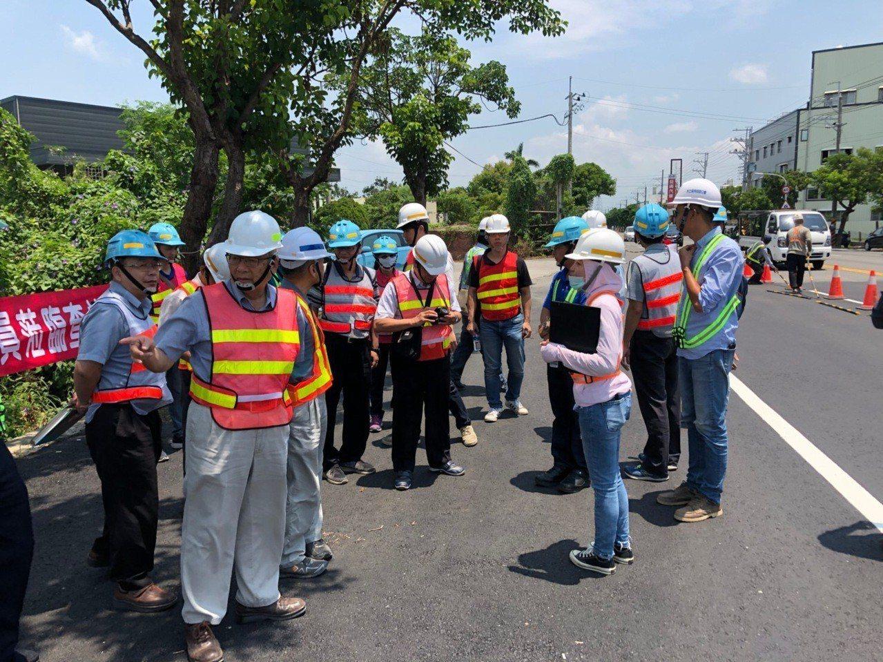 台水佳里區176線管汰工程施工品質獲國營會評為甲等。 圖/台水公司提供