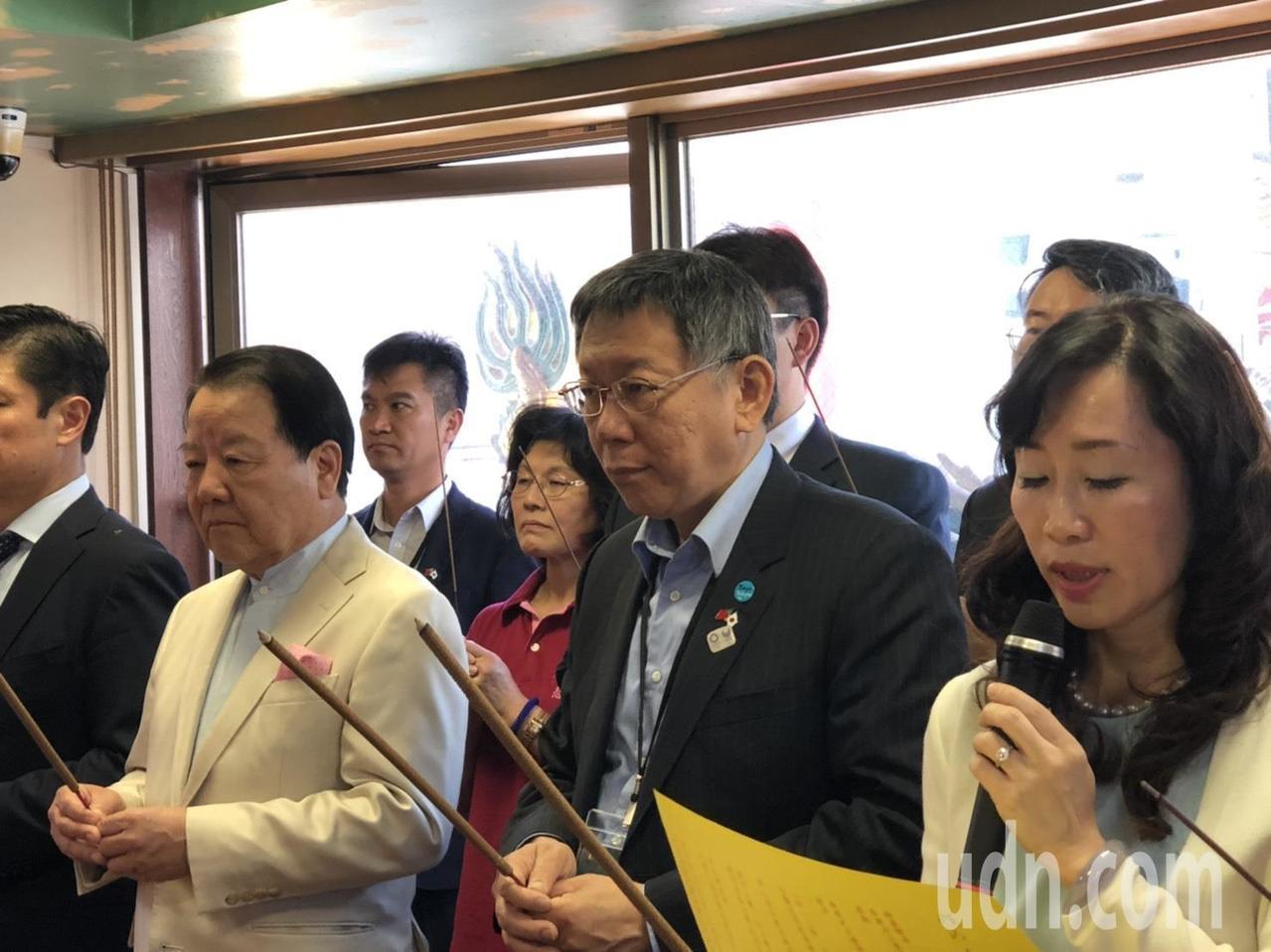 台北市長柯文哲訪日第二天,今中午到東京參拜媽祖廟,這也是日本第一座,也是唯一一座...