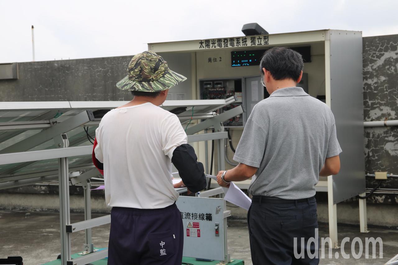 台中監獄與弘光科大攜手開辦受刑人太陽光電乙級技術士培訓班。記者余采瀅/攝影