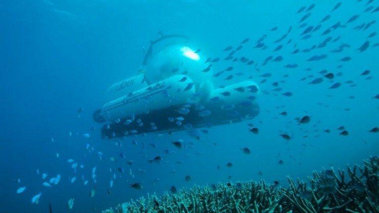 澳洲昆士蘭宣布與Uber合作,推出世界上第一艘共乘潛水艇ScUber,讓乘客有機...