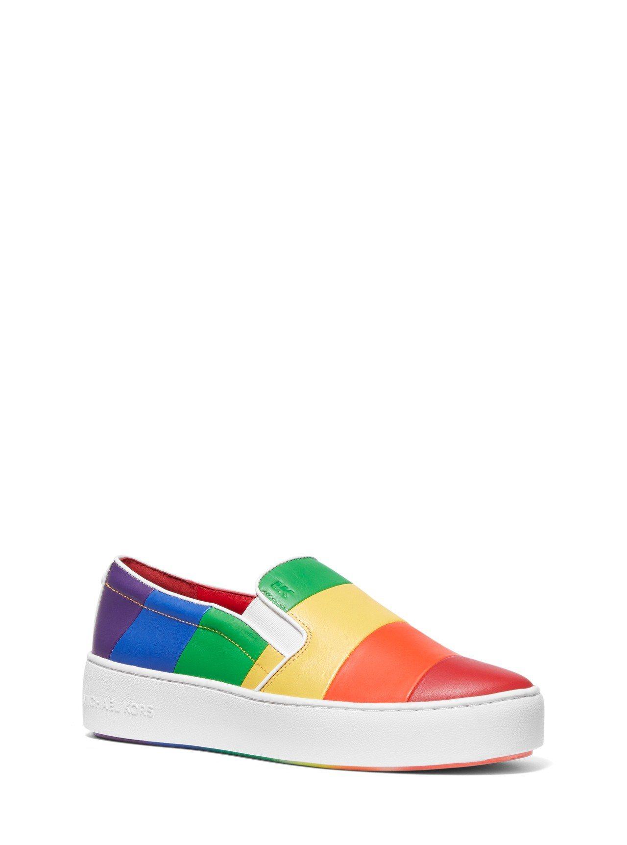 彩虹系列休閒鞋,售價6,300元。圖/MICHAEL KORS提供