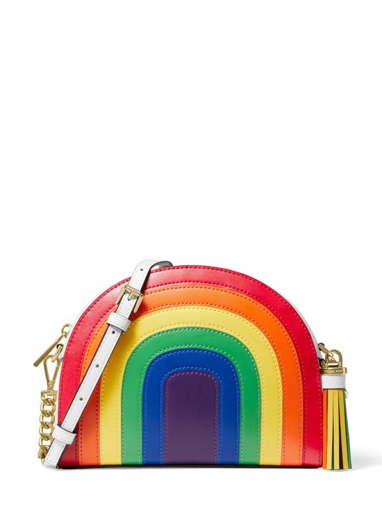 彩虹系列肩包,售價10,900元。圖/MICHAEL KORS提供