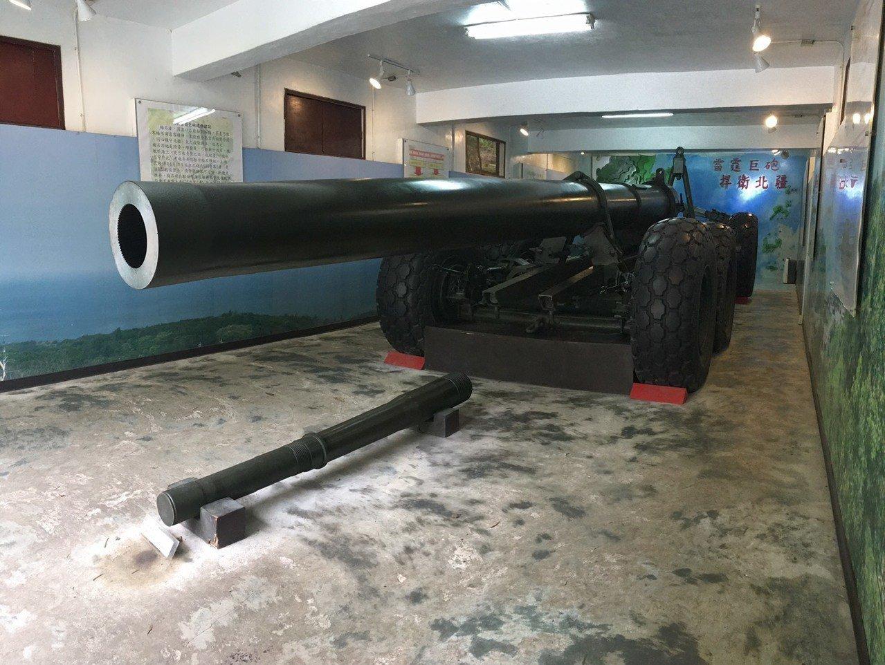 大砲連館內還有陳設備用砲管。記者吳姿賢/攝影