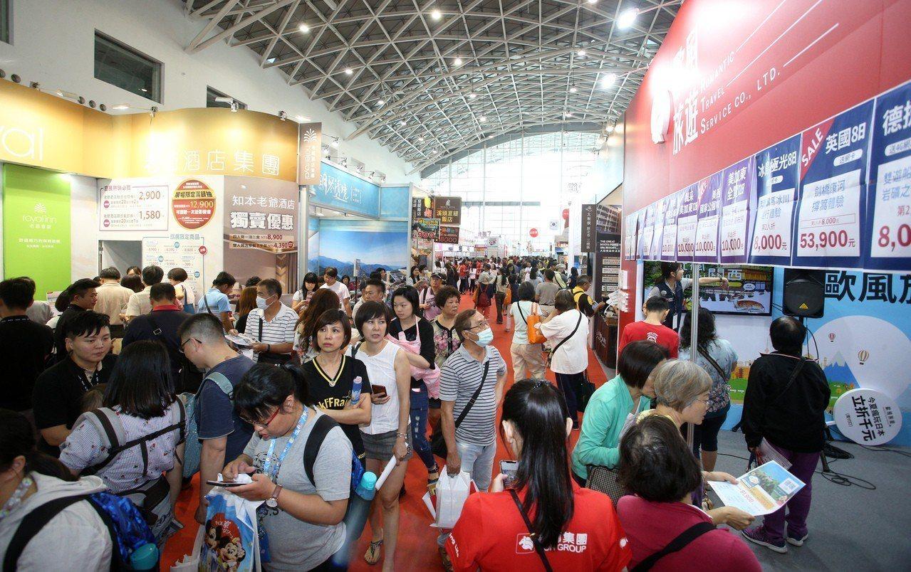 「2019高雄市旅行公會國際旅展」今天熱鬧登場。記者劉學聖/攝影