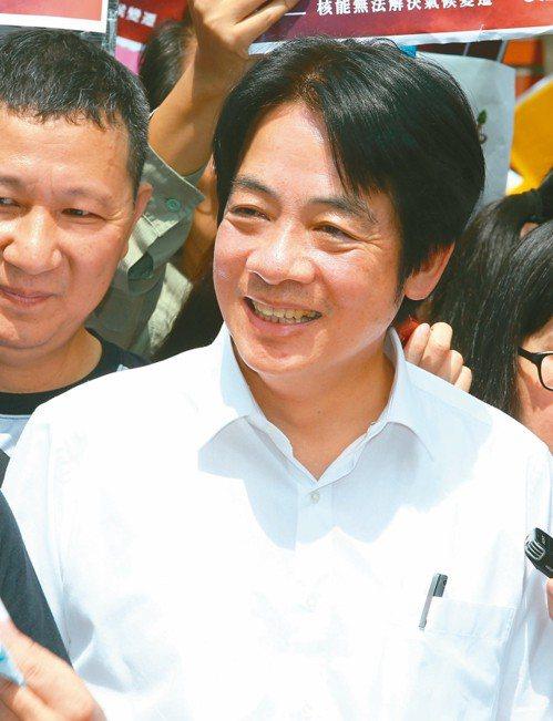 行政院前院長賴清德昨出席「周五為未來、台灣站出來」遊行。 記者陳柏亨/攝影