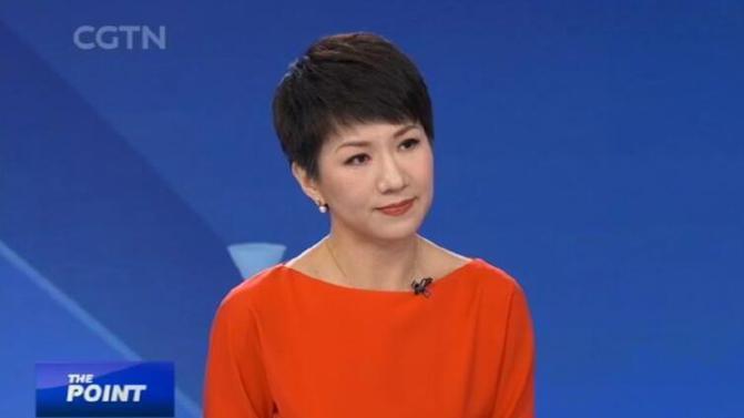 中國環球電視網(CGTN)女主播劉欣 擷自 CGTN Youtube