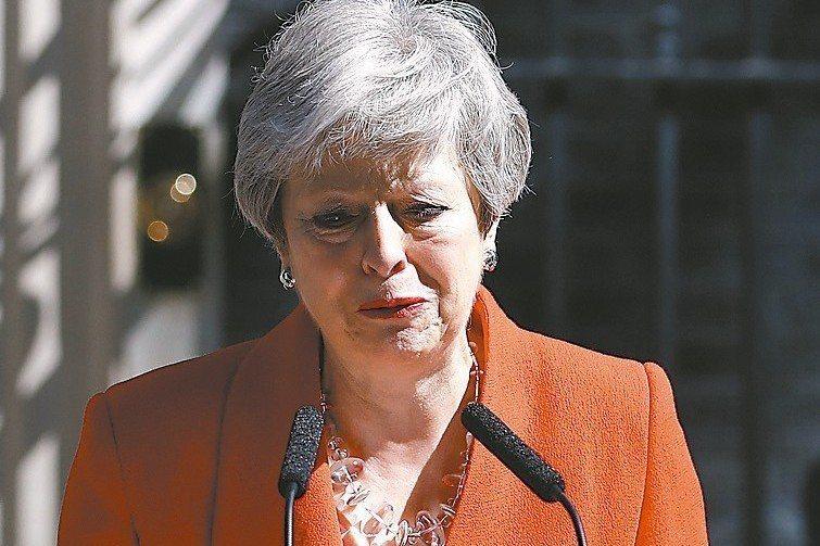 英國首相梅伊宣布6月7日卸任。 美聯社