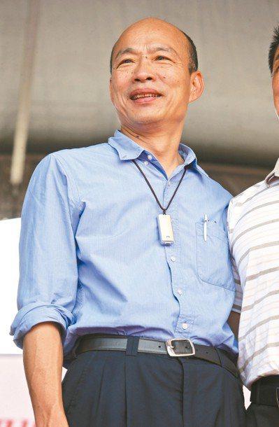 高雄市長韓國瑜上午證實,6月1日將北上參加在凱道舉行的挺韓造勢大會。 記者劉學聖...