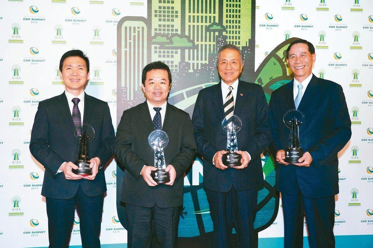 中國信託為「2019亞洲企業社會責任獎」最大贏家,獲頒三類獎項、四座大獎,由中信...