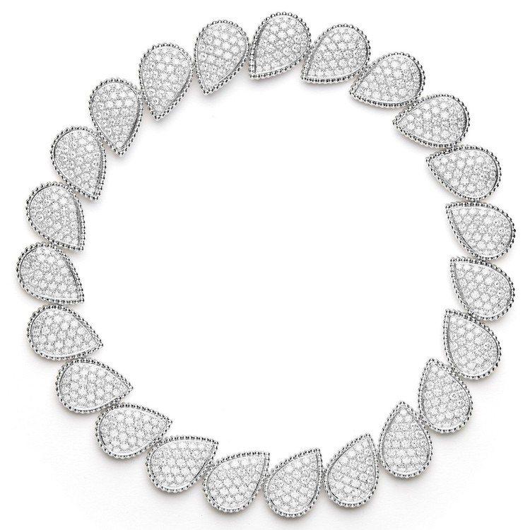 寶詩龍頂級珠寶系列Serpent Bohème項鍊,白金鑲嵌736顆圓鑽共約28...