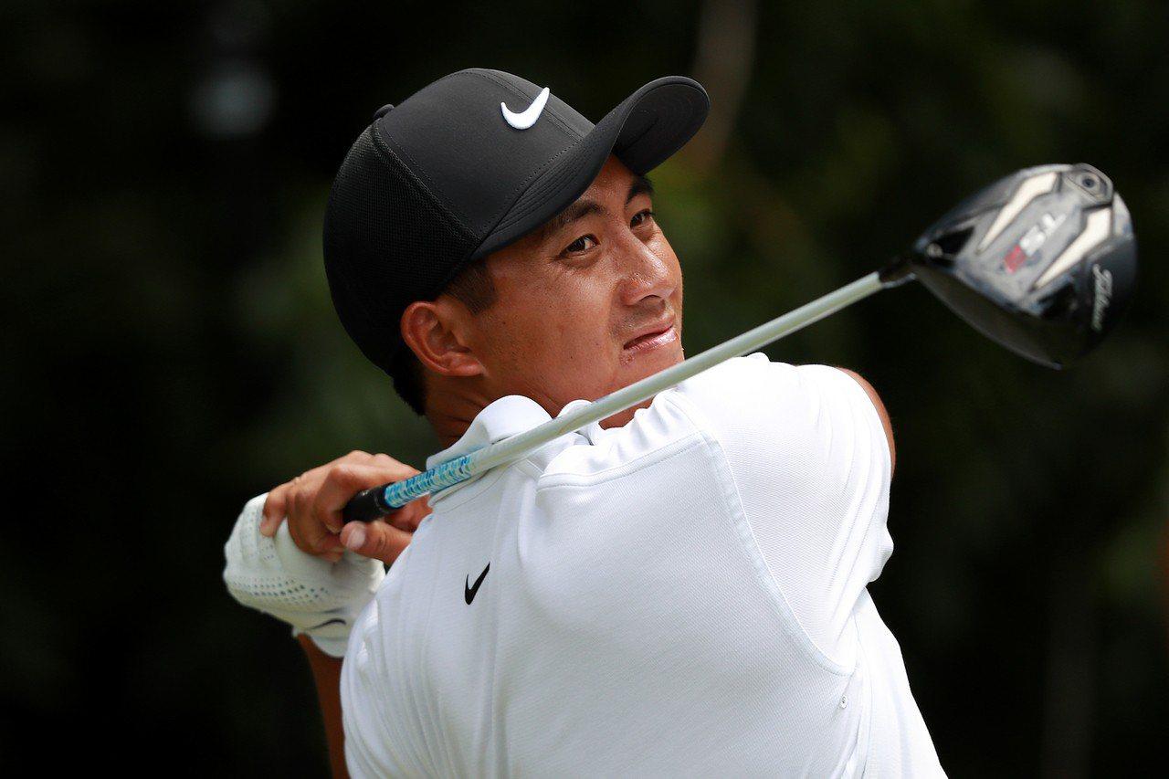 潘政琮在嘉信挑戰賽前兩輪打完暫並列第五。圖/PGA TOUR提供