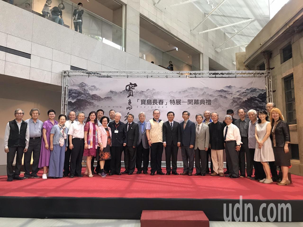 全長66公尺的「寶島長春」在台南美術館1館展出。記者鄭維真/攝影